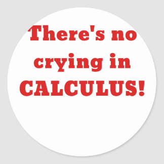 Theres No Crying in Calculus Classic Round Sticker