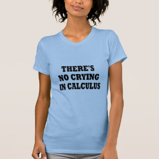 THERE'S NO CRYING IN CALCULUS TEE SHIRTS