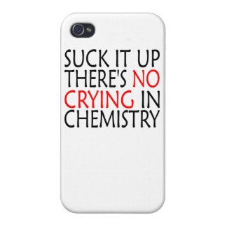 There's No Crying In Chemistry Covers For iPhone 4