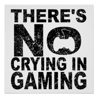 There's No Crying In Gaming Poster