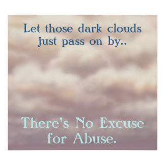 Theres No Excuse for Abuse Poster