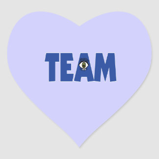 There's No I in Team Heart Sticker
