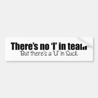 There's No 'I' in Team (Hockey) Bumper Sticker