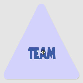 There's No I in Team Triangle Stickers