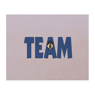 There's No I in Team Wood Wall Decor