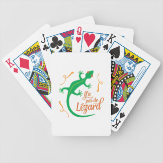 There's No Lizard - Funny French Saying Bicycle Playing Cards