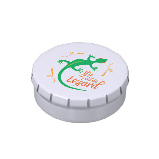 There's No Lizard - Funny French Saying Jelly Belly Tins