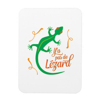 There's No Lizard - Funny French Saying Magnet