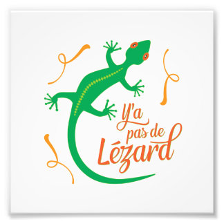 There's No Lizard - Funny French Saying Photo Print