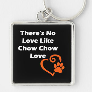 There's No Love Like Chow Chow Love Keychain