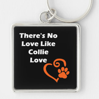 There's No Love Like Collie Love Keychain