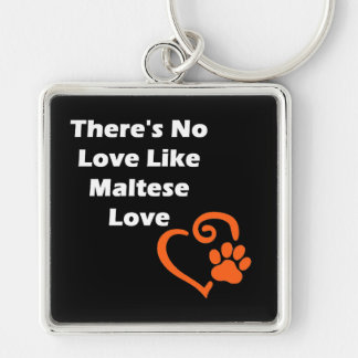 There's No Love Like Maltese Love Keychain