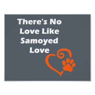 There's No Love Like Samoyed Love Poster