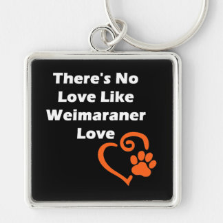 There's No Love Like Weimaraner Love Keychain