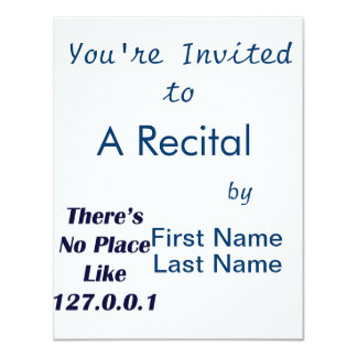 Theres No Place like 127001 4.25x5.5 Paper Invitation Card