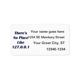 Theres No Place like 127001 Address Label