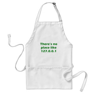 Theres no place like 127001 adult apron