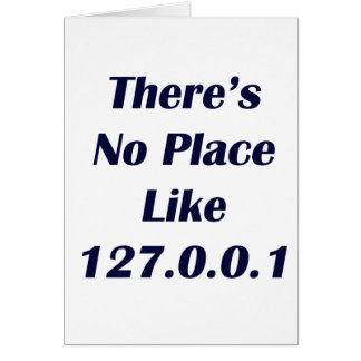 Theres No Place like 127001 Card