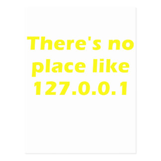 Theres no place like 127001 postcard
