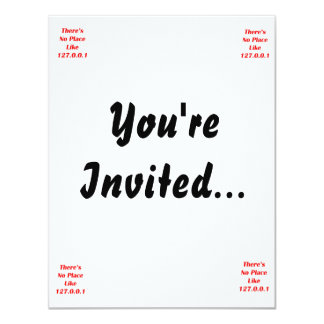 Theres No Place like 127001 red 4.25x5.5 Paper Invitation Card
