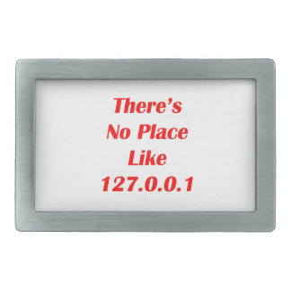 Theres No Place like 127001 red Rectangular Belt Buckles