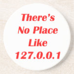 Theres No Place like 127001 red Beverage Coasters