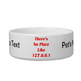 Theres No Place like 127001 red Bowl