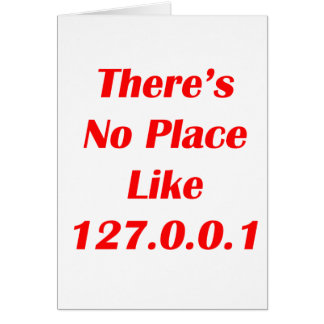 Theres No Place like 127001 red Card