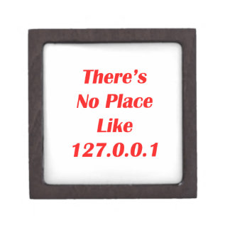 Theres No Place like 127001 red Premium Keepsake Box