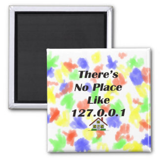 Theres No Place like blk with house 2 Inch Square Magnet