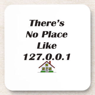 Theres No Place like blk with house Beverage Coaster