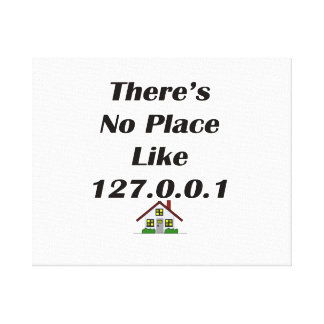 Theres No Place like blk with house Canvas Print