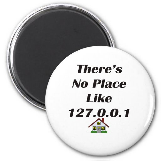 Theres No Place like blk with house Fridge Magnet
