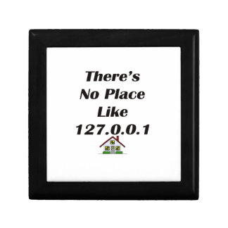 Theres No Place like blk with house Keepsake Box