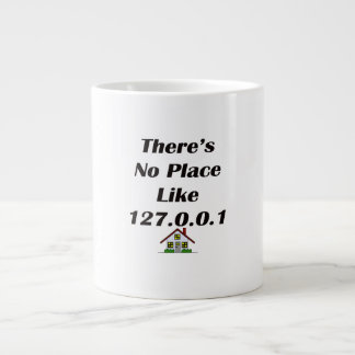 Theres No Place like blk with house Large Coffee Mug