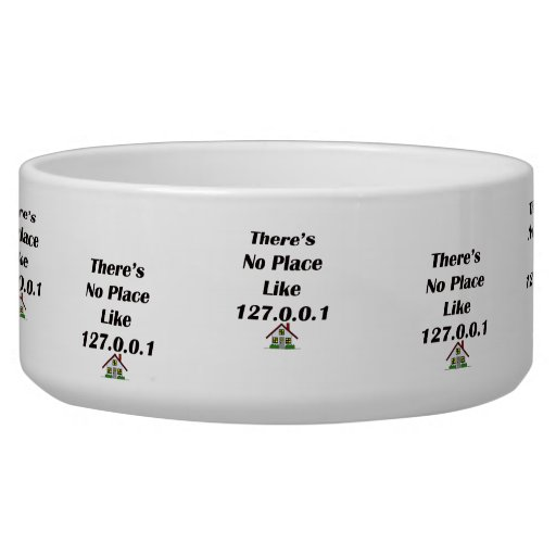 Theres No Place like blk with house Pet Food Bowl