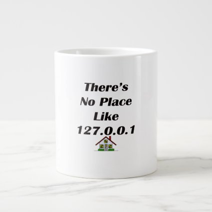 Theres No Place like blk with house Extra Large Mug