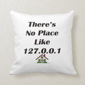 Theres No Place like blk with house Throw Pillow