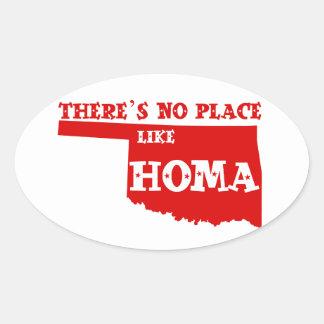 There's No Place Like Homa Oklahoma Oval Sticker