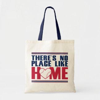 There's No Place Like HOME Baseball Heart Tote Bag