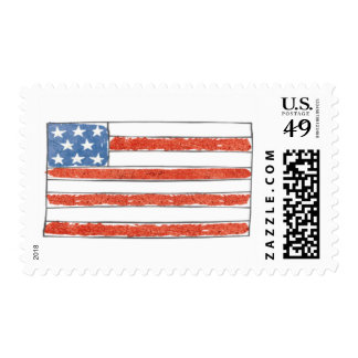 There's No Place Like Home | Flag of The USA Postage