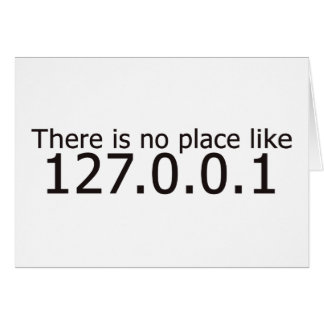 Theres no place like home ip address card