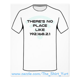 """There's No Place Like Home IP Address 4.5"""" X 5.6"""" Flyer"""
