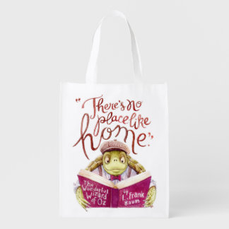 """""""There's no place like home"""" L. Frank Baum quote Market Tote"""