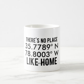 There's No Place Like Home - Latitude and Longitud Coffee Mug