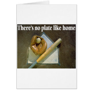 There's No Plate Like Home Card