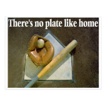 Theres No PLATE Like Home Postcard