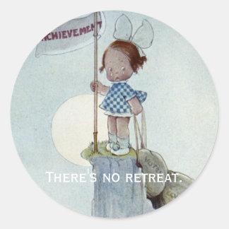 There's No Retreat Classic Round Sticker