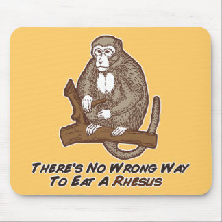 Theres No Wrong Way To Eat A Rhesus Mouse Pad