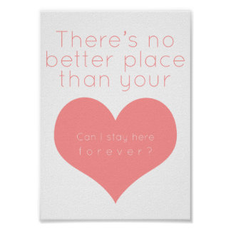 There's not better place than your heart (Pink) Poster